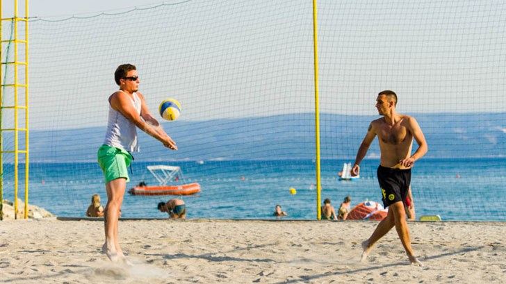 Beach volleyball at campsite Galeb